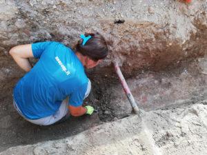 scavo archeologico in cantiere edile
